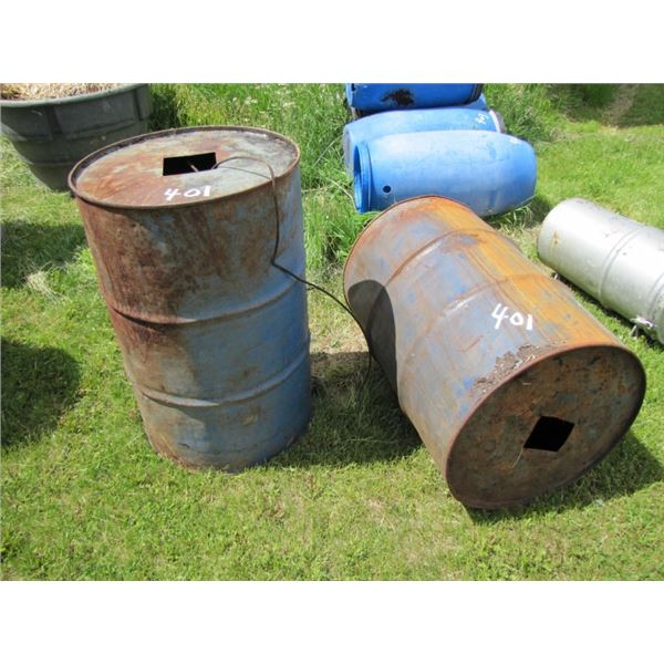 lot of two metal Barrel use for bear hunting