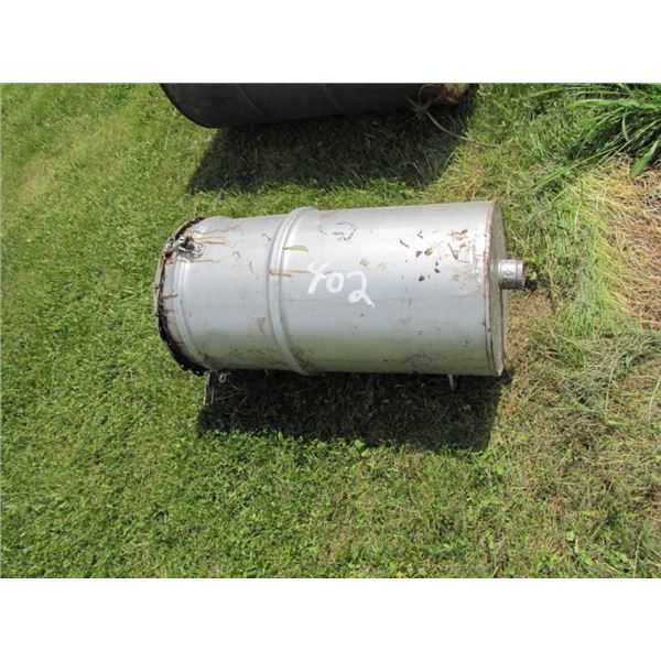 custom built metal Barrel would be filled with vegetable oil and used for bear hunting