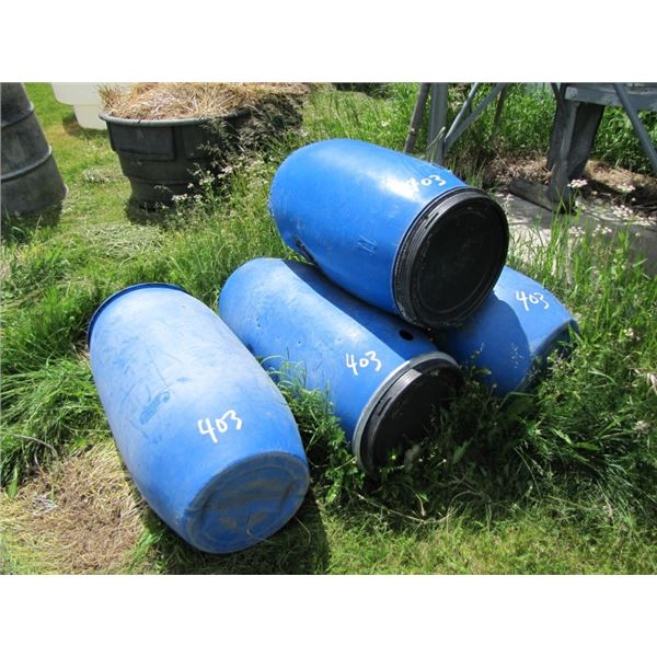 4 Polly Barrels used for bear hunting