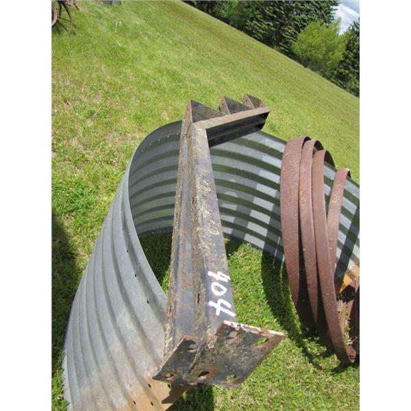 set of metal stair stringers