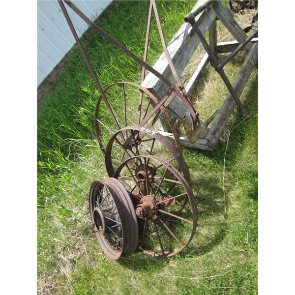 lot of assorted metal wheels