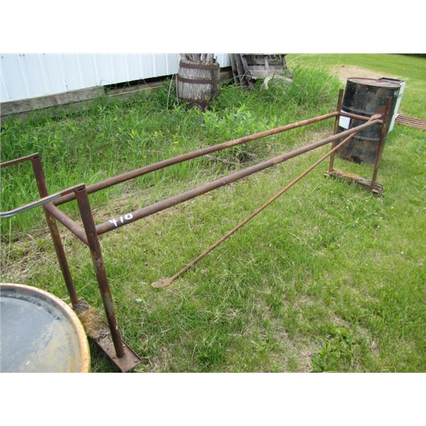 rolling metal stand possibly use for tire storage