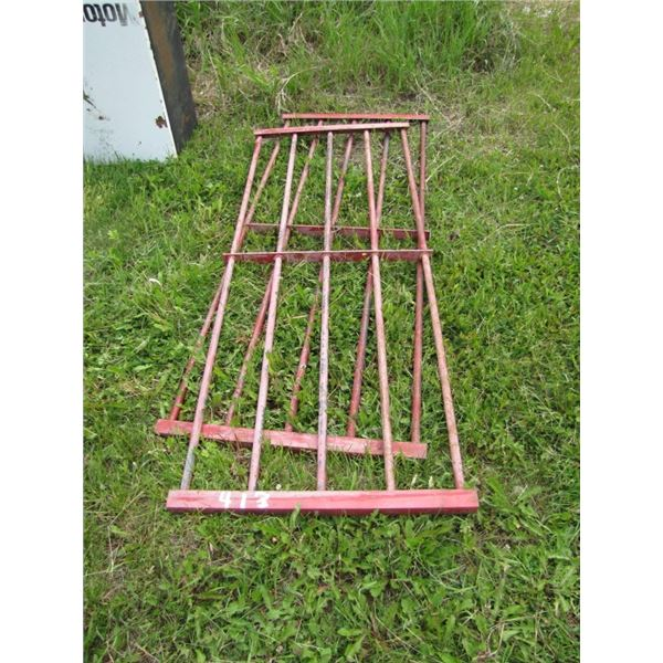 lot of 2 metal items -- possibly truck air flow tail gates???