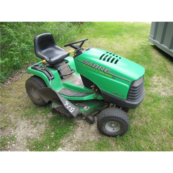 Sabre manufactured by John Deere 17 horsepower - 42 inch cut riding lawn mower - comes with extra st