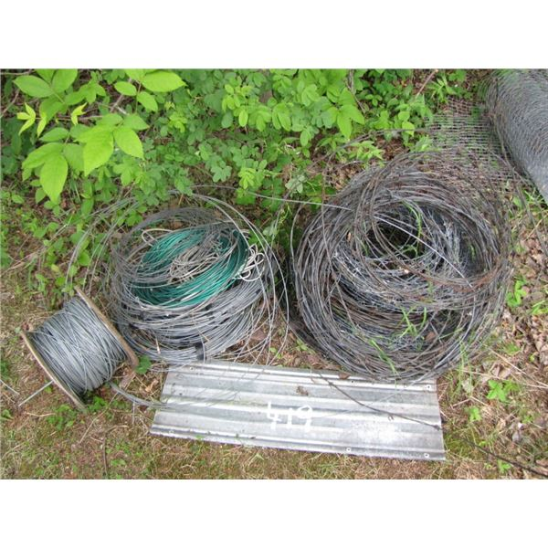 lot with Barbed wire and electric fence wire etc.