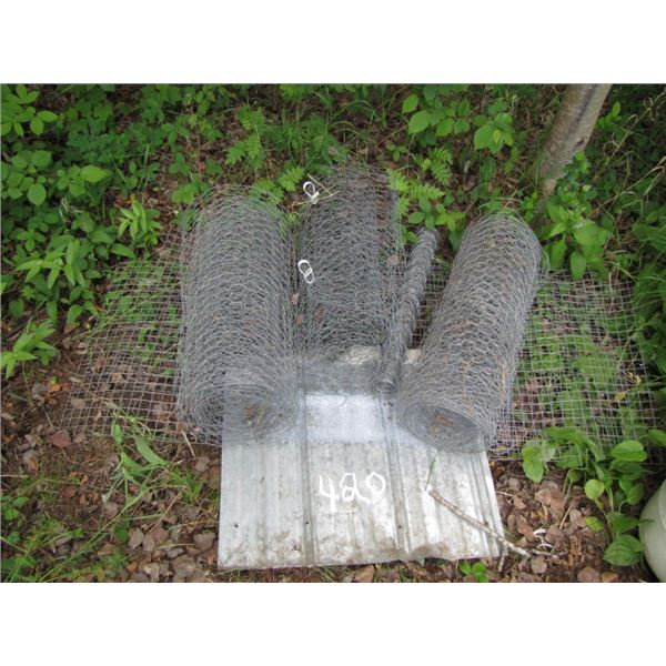 lot with chicken wire