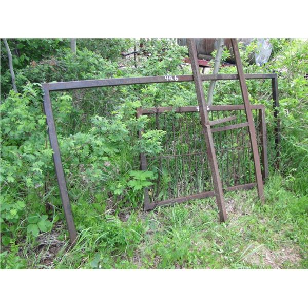 lot with metal frames
