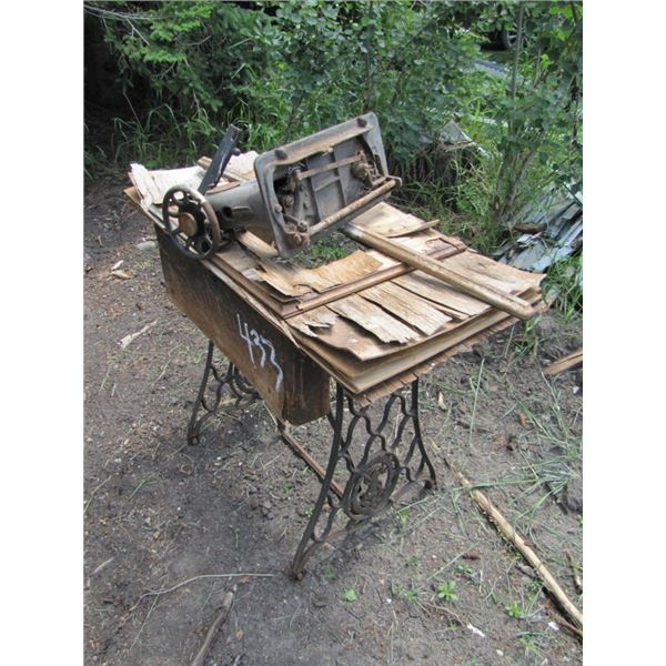 singer treadle sewing machine could be used to make table