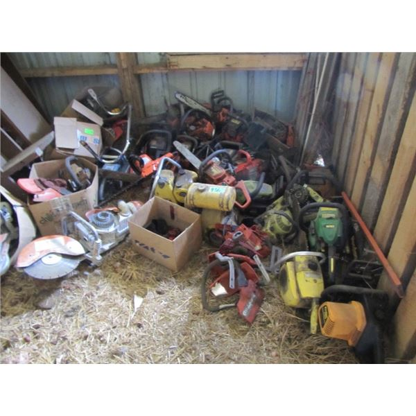 large lot of chainsaw and small engine parts