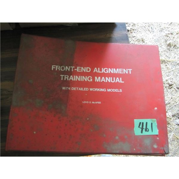 front end alignment training manual