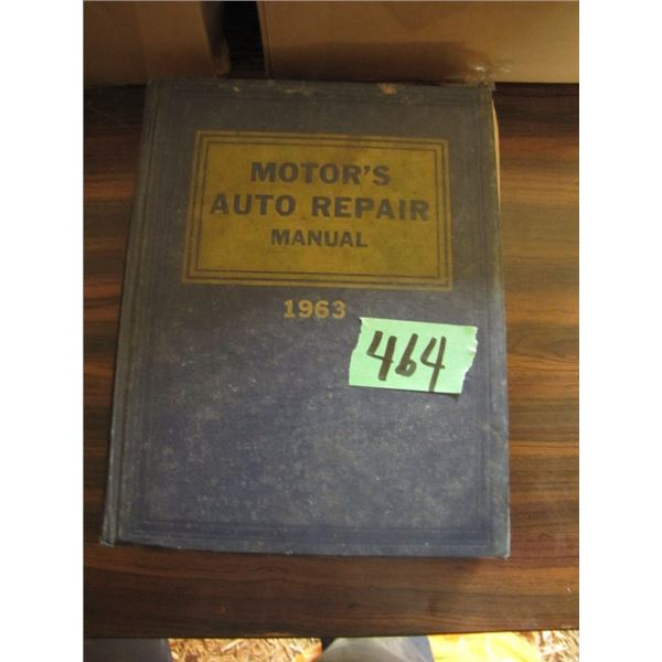 motors auto repair manual 1963