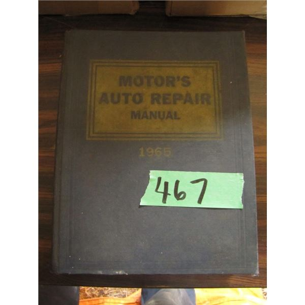 Chilton's flat rate and Parts manual 1964