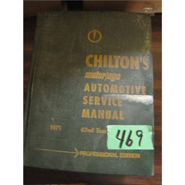 Chilton's auto Service manual 1971