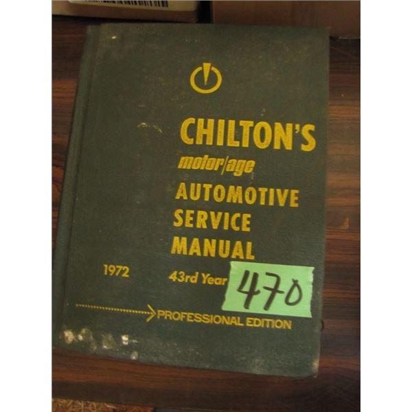 Chilton's auto Service manual 1972