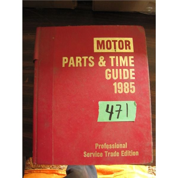 motor parts and time guide 1985