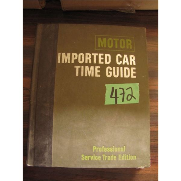 motor imported car time guide