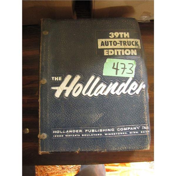 the Hollander 39th auto truck edition