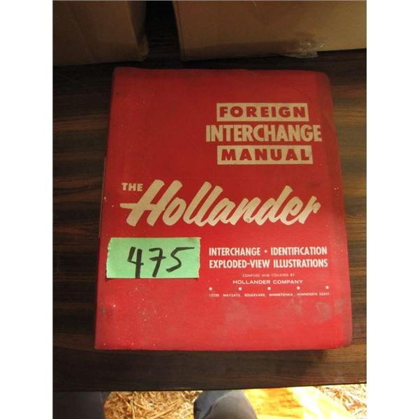 the Hollander foreign interchange manual