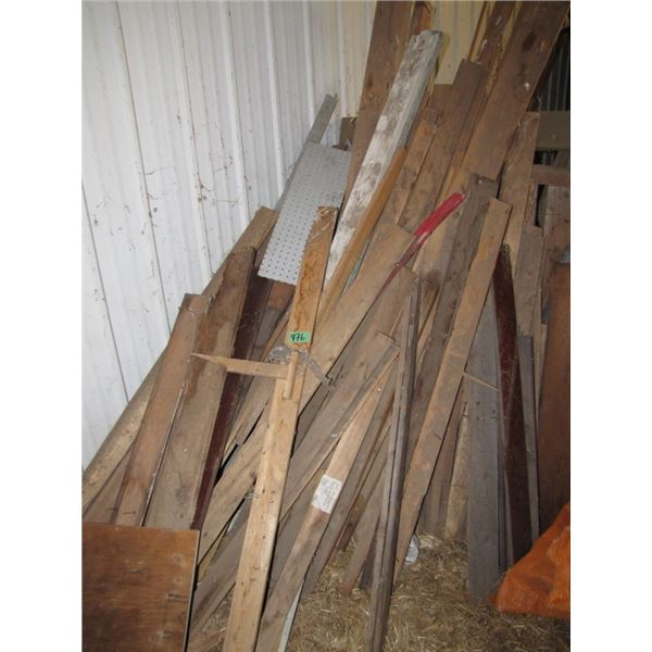 lot of assorted lumber 1 x 4  etc.