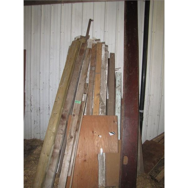 lot of a short lumber 2 x 6 and 1 x 4  etc.
