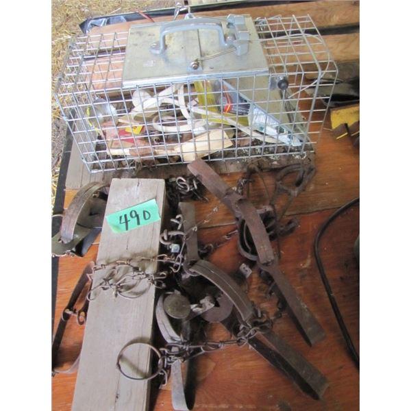 lot with live trap, mouse traps, gofer traps
