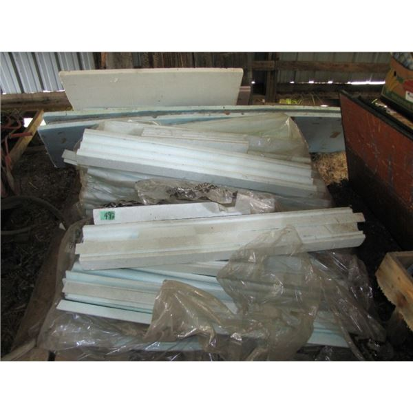 lot with styrofoam for insulating underground pipe for the outdoor furnace