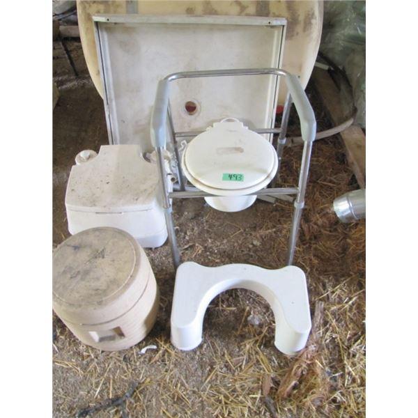 shower stall, port a potties, etc.