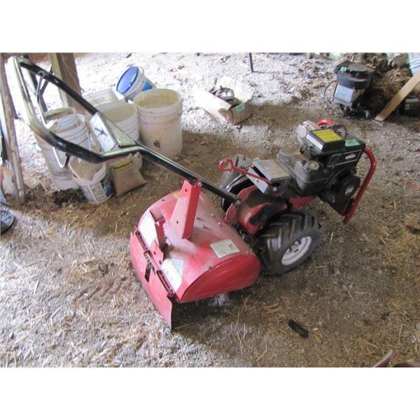 snapper 5 horsepower rear tine Garden tiller -- runs, they used it to till the garden this spring
