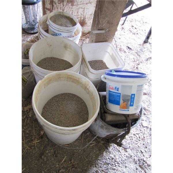 pails of sand