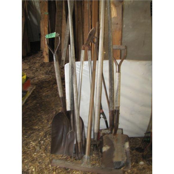 shovels and tools