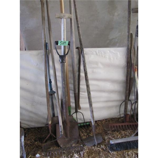rakes and shovels