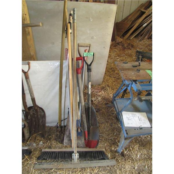 shovels, broom, etc.