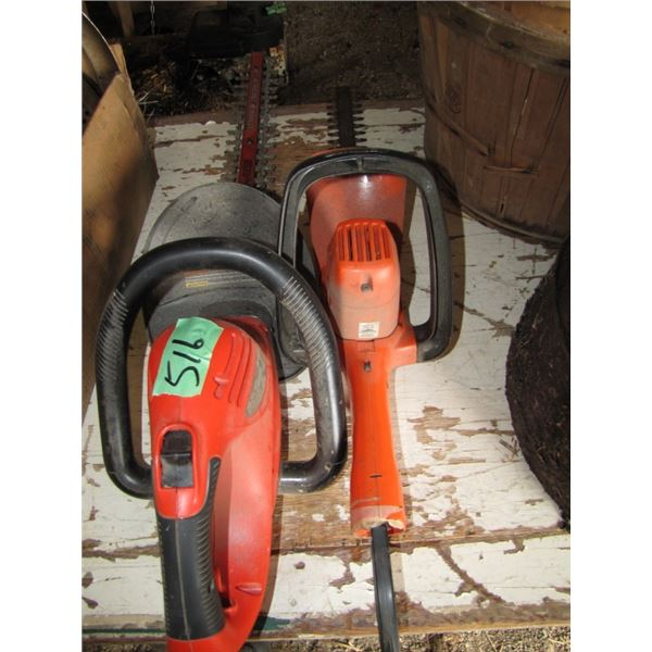 2 hedge trimmers electric