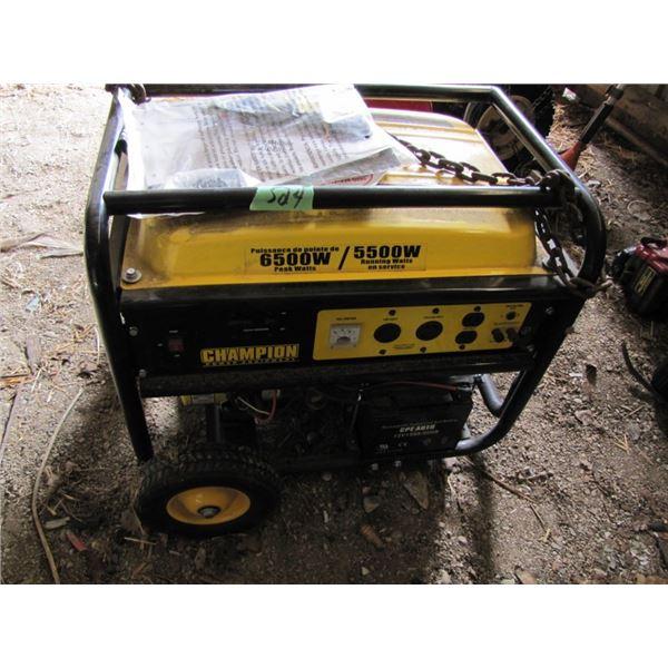 champion 6500 watt generator - started on first pull