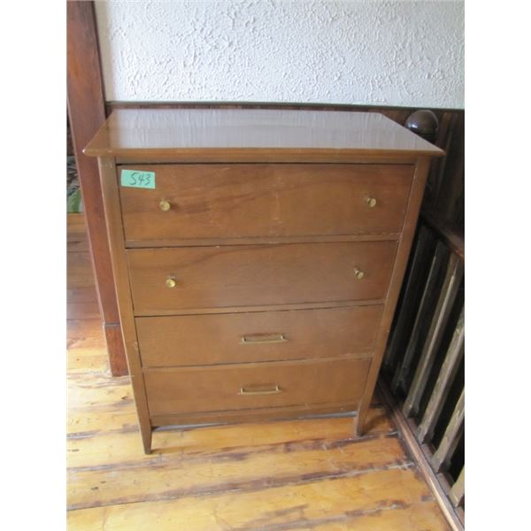 4 drawer wood dresser