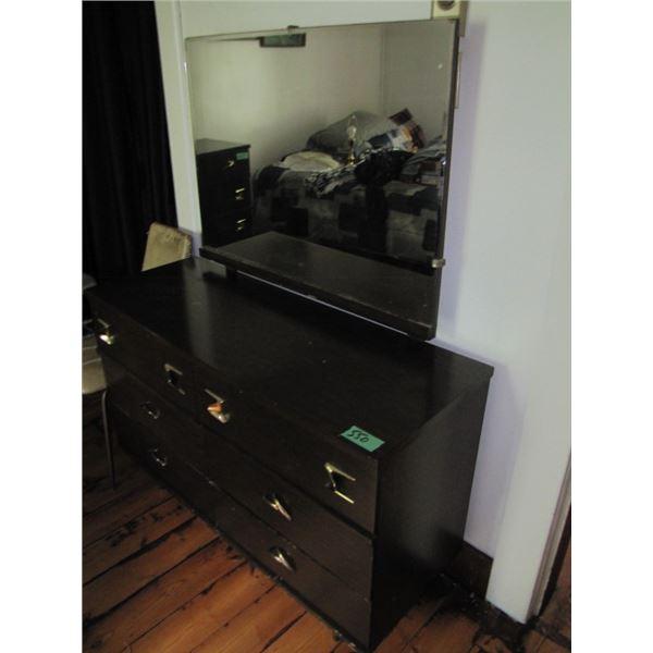 Dresser w / mirror and high boy