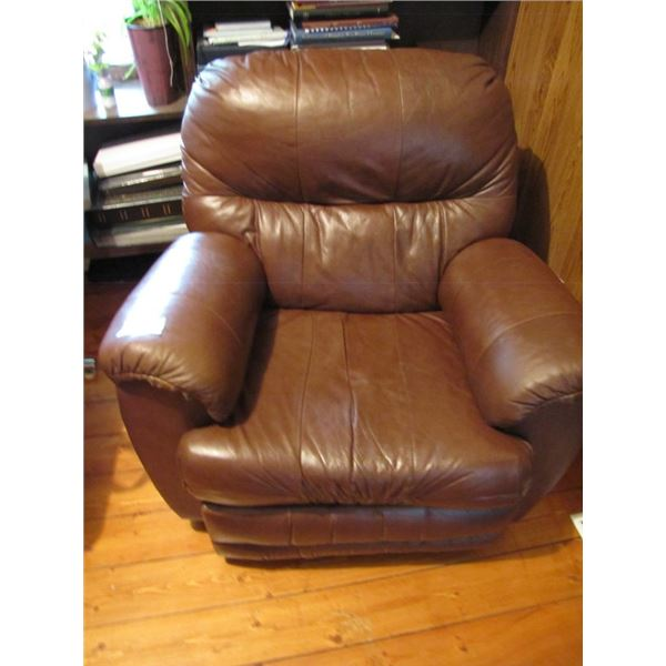 Leather reclining chair