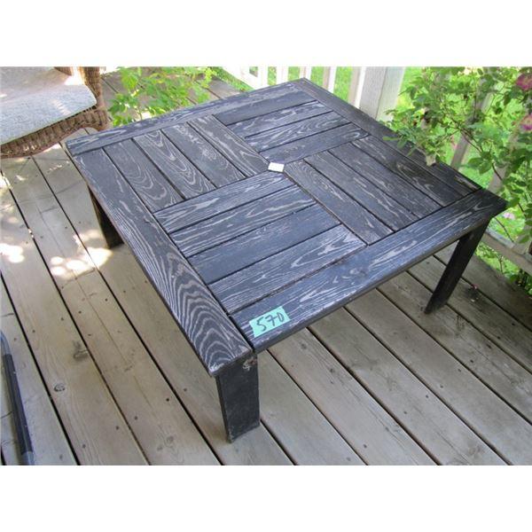 wood patio coffee table