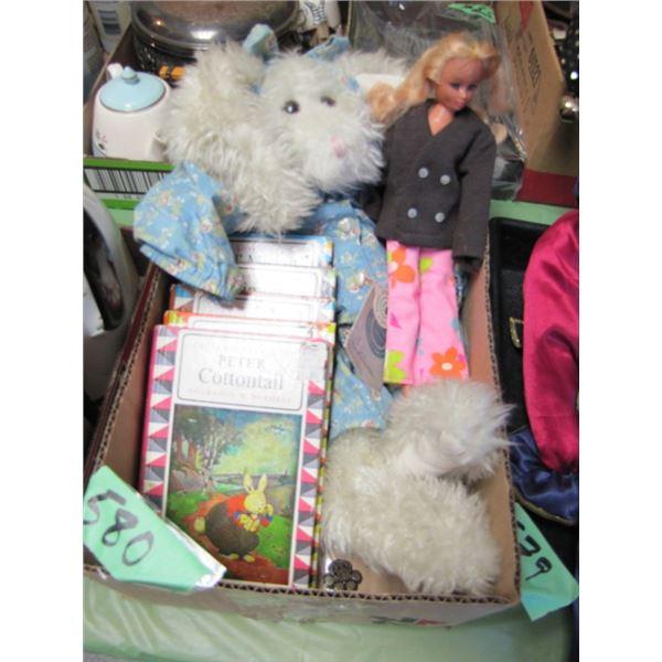 kids books, Barbie dolls