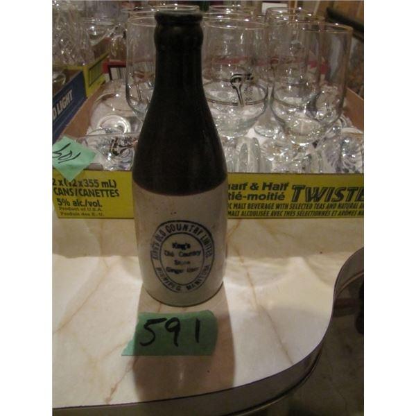 Stone ginger beer bottle from Winnipeg