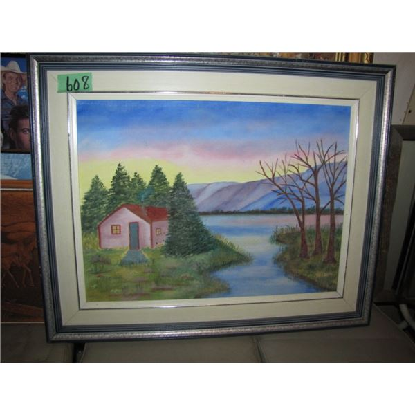 oil painting - little cabin
