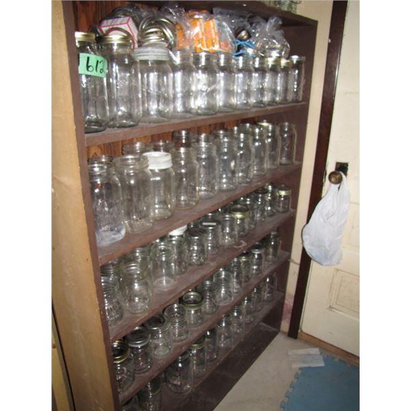 Five shelves of quart and pint Sealers