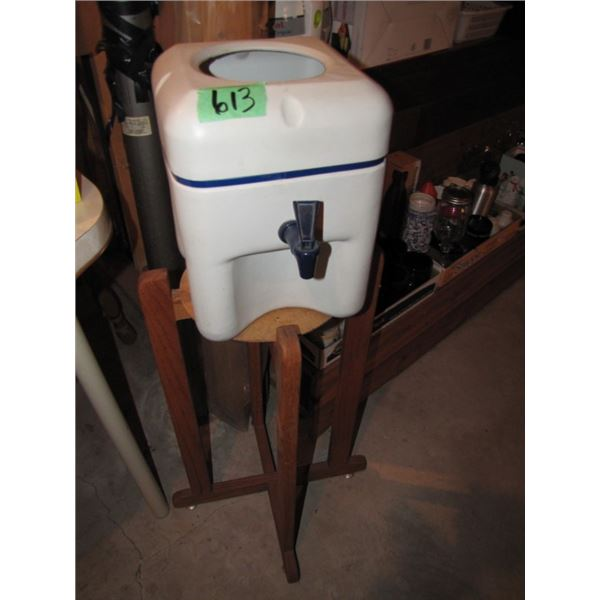plastic water dispenser and stand