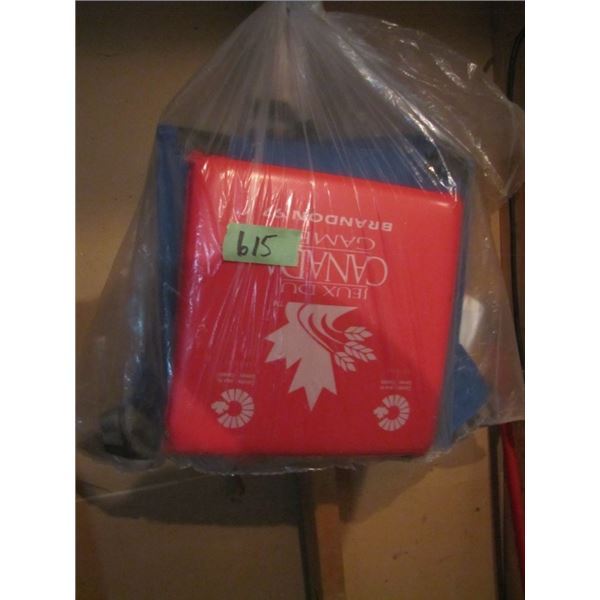 bag of three Stadium seating cushions