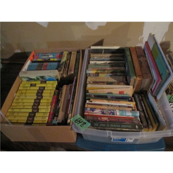 Nancy Drew, Hardy Boys and other books