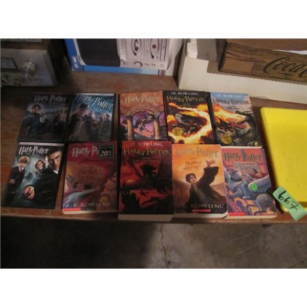 Harry Potter books and videos