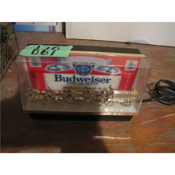 Budweiser advertising piece - does not light up bulb is probably burnt out