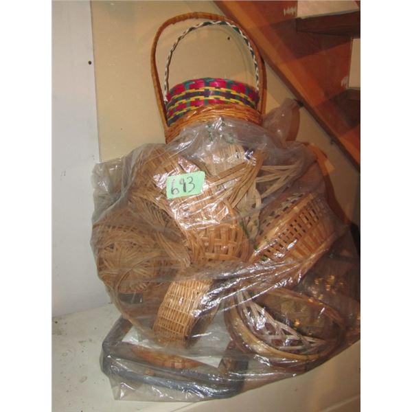lot of assorted wicker basket