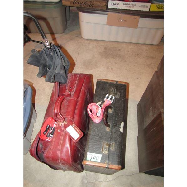 suitcases and umbrella