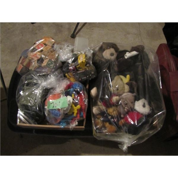 Children's toys and stuffed animals
